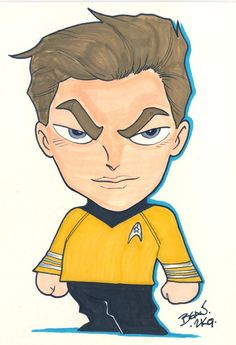 William Shatner as Chibi-Captain Kirk. Starship Enterprise, William Shatner, Star Trek Universe, Chibi, Disney Characters, Fictional Characters, Princess Zelda, Deviantart, Manga