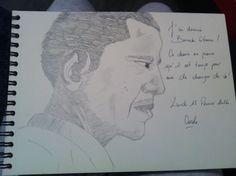 I tried to draw Barack Obama / J'ai essayé de dessiner Barack Obama.