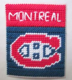 Montreal Canadiens tissue box cover in plastic canvas PATTERN ONLY by AuntCC for $2.50 Plastic Canvas Coasters, Plastic Canvas Tissue Boxes, Plastic Canvas Crafts, Plastic Canvas Patterns, Plastic Craft, Football Canvas, Plastic Mesh, Kleenex Box, Box Patterns