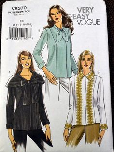 Sewing Pattern Vogue 8370 Misses' Shirt Jacket by GoofingOffSewing