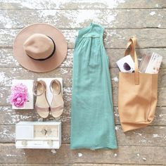 Weekend ready! #outfit #dress #accessories #tote by blushshop