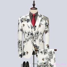 HEFASDM Men Formal Embroidered Chinese Dragon Long Sleeve Party Bridal Shirt Tops