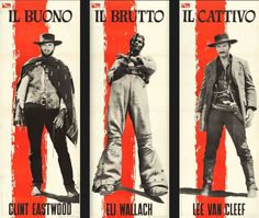 A trio of iconic posters for the world premiere of The Good, the Bad and the Ugly (PEA, 1966)