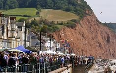 Music event: Crowds enjoy the sights and sounds of Sidmouth Folk Week today along the prom...