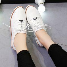 Mulher Sapatos Verão 2016 Plataforma Branco Sapatos Oxford para As Mulheres Sapatos de Salto Planas Mocassins De Couro de Condução em Apartamentos das mulheres de Sapatos no AliExpress.com | Alibaba Group