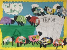 Don't be a litterbug. Earth day project.