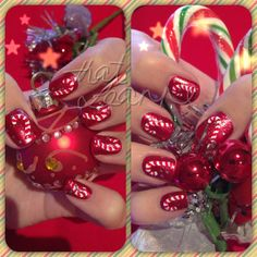Darn. Should've done my candy cane nails like this instead. Oh well. Next Christmas:)