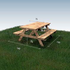 Table à pique-nique - plan du meuble