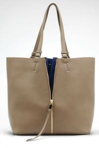 Gray Zip Handbag