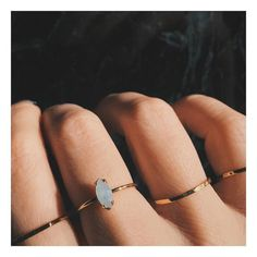 A delicate band featuring a sparkling Swarovski marquis crystal. Perfect for stacking, particularly with the Tiny Baguette Ring, and can also be worn as a midi / forefinger ring. An all-time BB best-s