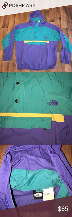 Vintage XL The North Face Pullover Windbreaker Excellent condition The North Face Jackets & Coats Windbreakers