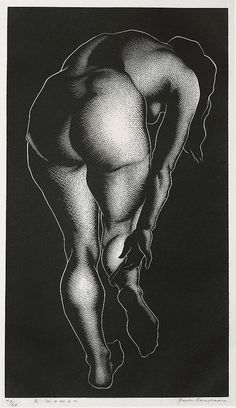"""A Woman"" - Paul Landacre - Wood Engraving - 1937 