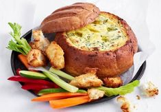 We've combined garlic bread and a cob loaf to bring you this crowd-pleasing favourite. We've combined garlic bread and a cob loaf to bring you this crowd-pleasing favourite. Cob Dip, Cob Loaf Dip, Loaf Recipes, Cooking Recipes, Savoury Recipes, Fruit Recipes, Fish Recipes, Seafood Recipes, Vegetarian Recipes