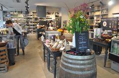 Gourmet food store interior