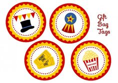 free circus birthday party printable gift bag tags