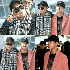 J-Hope and Jin ❤ BTS at Incheon Airport heading to MAMA 2016 in Hong Kong (Press Photos) #BTS #방탄소년단