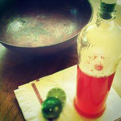 rhubarb lime syrup