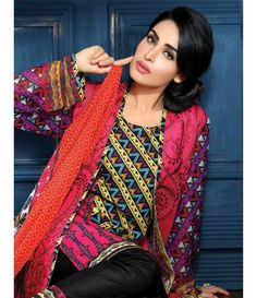 Feminine Embroidered Suit Collection 2015 ST_2A