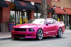 A pink Mustang? Saleen Molly Pop Mustang has its owner tickled pink Pink Mustang, Mustang Girl, Mustang Stripes, Saleen Mustang, Ford Mustangs, Ford Gt, Audi Tt, My Dream Car, Luxury Cars