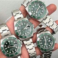 Get lucky on Friday the 13th wearing your green #rolex #submariner #hulk #hulkrolex #greensub #orlogi by timepiece_bank #rolex #submariner