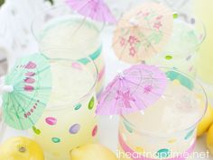 DIY Painted Glassware tutorial ...loving the polka dots!