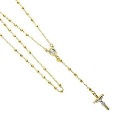 "14K Yellow Gold 2.5mm Beads Our Lady Guadalupe Crucifix Rosary Necklace - 24"" Inches GoldenMine. Save 57 Off!. $281.00. Completely redesigned and revamped for the year 2012. Promptly Packaged with Free Gift Box...Perfect for Gift Giving. Simply Elegant.... Beautifully manufactured using up-to-date manufacturing techniques to ensure excellent quality and value. This item showcases a high polish finish for stunning sparkle and pop!"