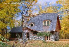 Cabaña de piedra y madera estilo Casa de Libro de Cuentos
