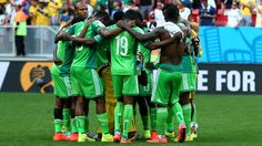 Nigeria players react after the 0-2 defeat in the 2014 FIFA World Cup Brazil Round of 16