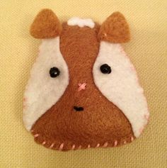 Little felt guinea pig for Harriet's 7th birthday (she's getting real ones!!)