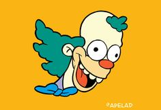 The Twitter Bird Mashed Up with Krusty the Clown