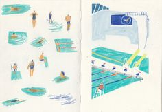 "charlotteagerillustration: "" swimming pool colours """