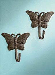 Amazon.com - Antique-Finished Wall Hook Sets, Color Butterfly