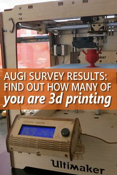 Who is Doing All that 3D Printing ...  The results of last month's AUGI survey are in. Are you ready to find out how many AUGI members are 3D printing? The numbers may surprise you.  Image credit: Mirko Tobias Schäfer…