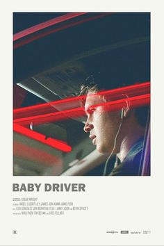 Image of Baby Driver - Mini Poster - Film Essence - Movies Iconic Movie Posters, Minimal Movie Posters, Movie Poster Art, Iconic Movies, Poster Series, Photo Restaurant, Mini Poster, Beste Comics, Poster Minimalista
