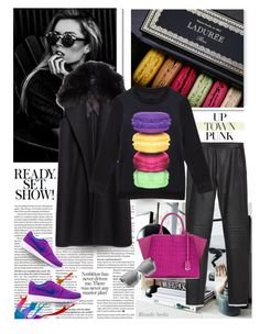 """""""A Sunday well spent, brings a week of content"""" by blonde-bedu ❤ liked on Polyvore featuring Ladurée, Zara, Fendi, NIKE and Illesteva"""