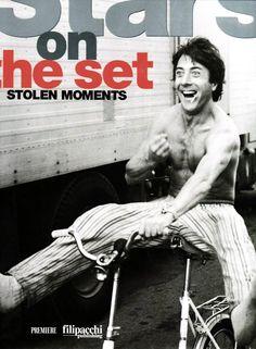 Dustin Hoffman photographed by John Schlesinger on the set of Marathon Man, 1976.