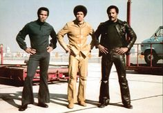 "Jim Kelly in the movie ""Three the Hard Way"" with Fred Williamson and Jim Brown in 1974."