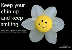 Some days are tricky. Remember to keep a happy thought. Keep your chin up and keep smiling! (Thanks again, Betty Moore, for an inspiring life, well lived.~Kathy~ www.refreshmentzone.com  (And, thanks to the artists at pixabay.com who share their photography with the world!)