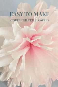 Inspiration and ideas on creating beautiful and easy coffee filter flowers for every occassion. Explore to create clusters of elegant flowers of your own. Coffee Filter Roses, Coffee Filter Wreath, Coffee Filter Crafts, Coffee Filters, Giant Flowers, Diy Flowers, Fabric Flowers, Coffee Flower, Fabric Flower Tutorial