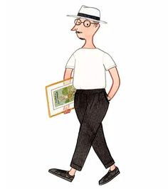 """""""The Normcore Boy"""" from the series of """"Five ways to wear sneakers"""" - Onitsuka Tiger x Slowboy #mensfashion #shoes #sneakers #fashionillustration #normcore #slowboy"""