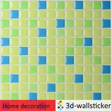 Green self adhesive wall sticker for kitchen wall decor