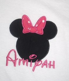 Minnie Mouse with bow applique t shirt  by LollysSewingRoom, $20.00