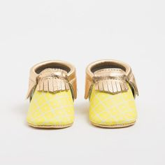 Freshly Picked Pineapple Moccasins for Babies {obsessed}