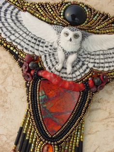RESERVED FOR AVE Snowy Owl Necklace by HeidiKummliDesigns on Etsy
