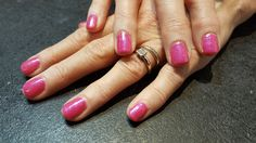 Tutti Fruity Shellac with mermaid glitter on top