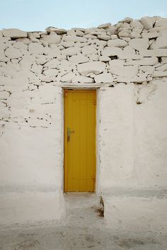 Mykonos and it's many contrasting doorways