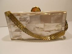 Rare Dorset Fifth Avenue mother of pearl purse by Retrothrift305