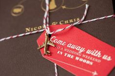 """""""Come away with us to a wedding weekend in the woods"""" THAT is magic ladies and gentlemen Oh So Beautiful Paper: Nicole + Chris's Modern Travel-Inspired Wedding Invitations Wedding Stationary, Wedding Invitation Cards, Wedding Cards, Invites, Planners, Vintage Travel Themes, Wedding Paper, Invitation Design, Invitation Ideas"""