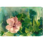 Found it at Wayfair - Pink Hibiscus II by Allyson Krowitz Painting Print Canvas