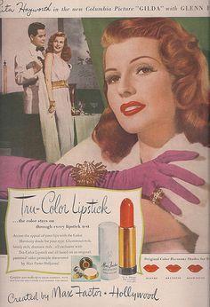 Tru Colour Lipstick Rita Hayworth for Max Factor